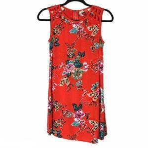 Speechless red floral sleeveless mini short dress